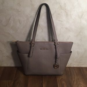 Authentic MK Jet Set Leather Tote